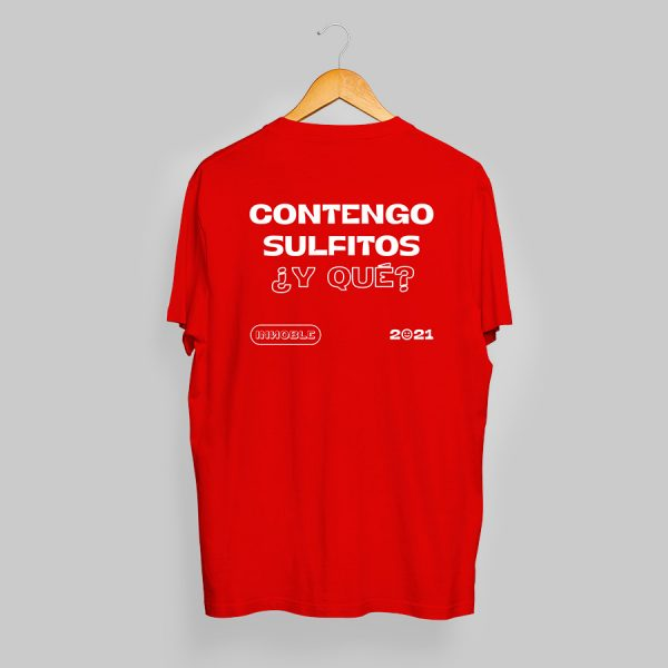 """Camiseta """"Contengo sulfitos"""", Innoble 2021"""